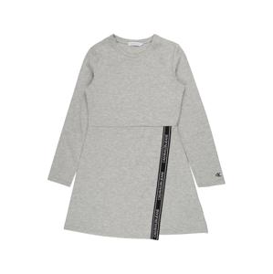 Calvin Klein Jeans Šaty  světle šedá / černá / bílá