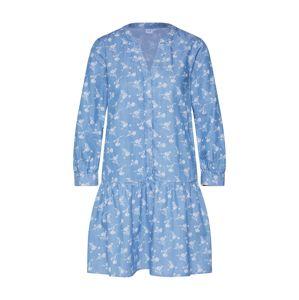 GAP Košilové šaty  bílá / indigo