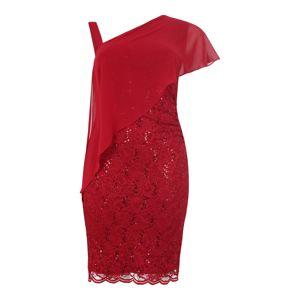 SWING Curve Pouzdrové šaty  vínově červená