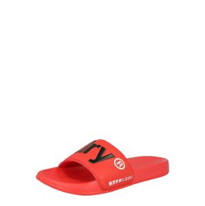 Superdry Plážová/koupací obuv  černá / světle červená / bílá