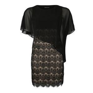 SWING Curve Koktejlové šaty  zlatá / černá