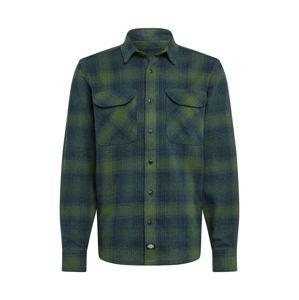 DICKIES Košile 'Plesant Hill'  zelená / tmavě modrá