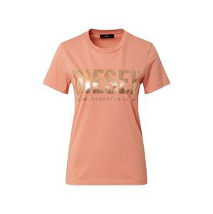 DIESEL Tričko 'Sily'  oranžová / zlatá