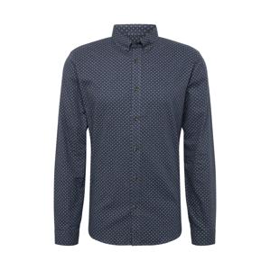 SHINE ORIGINAL Košile  tmavě modrá / béžová