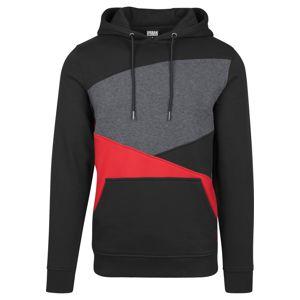 Urban Classics Mikina  šedá / červená / černá