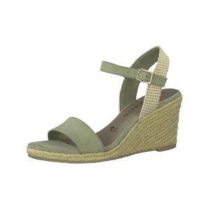 TAMARIS Páskové sandály  olivová