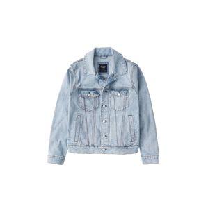 Abercrombie & Fitch Přechodná bunda  modrá džínovina