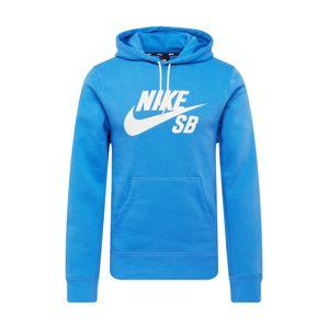 Nike SB Mikina  nebeská modř / bílá