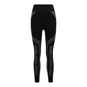 PUMA Sportovní kalhoty 'Evostripe'  černá / šedá