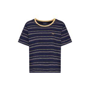 Iriedaily Tričko 'Ethny Tee'  námořnická modř / zlatě žlutá