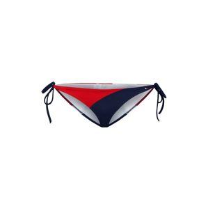Tommy Hilfiger Underwear Spodní díl plavek 'SIDE TIE BIKINI'  námořnická modř / červená / bílá