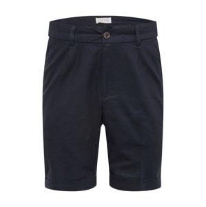 Pier One Chino kalhoty 'Linen Chino Short'  námořnická modř