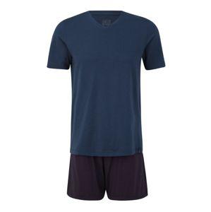 SCHIESSER Pyžamo krátké  modrá / červená