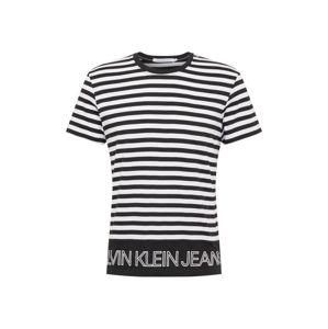 Calvin Klein Jeans Tričko  bílá / černá