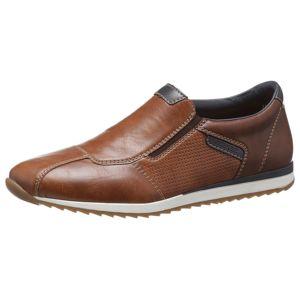 RIEKER Slip on boty  námořnická modř / hnědá