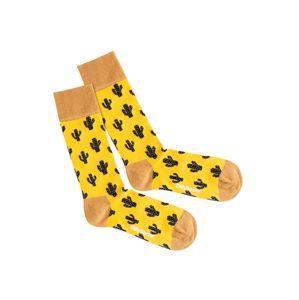 DillySocks Ponožky 'Desert Cactus'  žlutá / černá