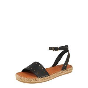 MACARENA Páskové sandály 'Nika 16'  černá