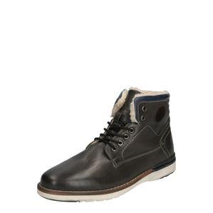 ABOUT YOU Šněrovací boty 'Lennard'  tmavě šedá