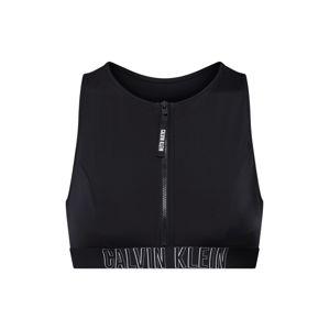 Calvin Klein Swimwear Horní díl plavek 'OPEN BACK CROP TOP'  černá