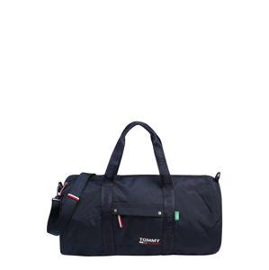 Tommy Jeans Cestovní taška  tmavě modrá / světle červená / bílá