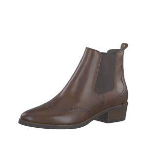 TAMARIS Chelsea boty  hnědá