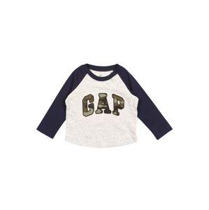 GAP Tričko  světle šedá / námořnická modř / khaki