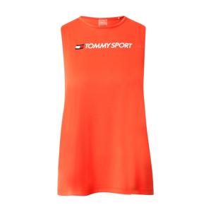 Tommy Sport Sportovní top  bílá / červená / tmavě modrá / oranžově červená