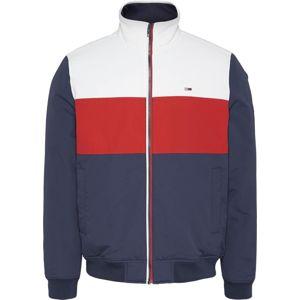 Tommy Jeans Přechodná bunda  červená / bílá / marine modrá