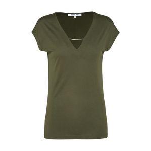 ABOUT YOU Tričko 'INKA'  khaki / tmavě zelená
