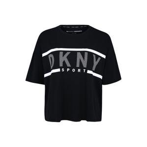 DKNY Sport Funkční tričko 'CROPPED LOGO TEE'  černá