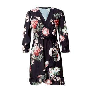 Sublevel Košilové šaty  černá / trávově zelená / grenadina / pink / béžová