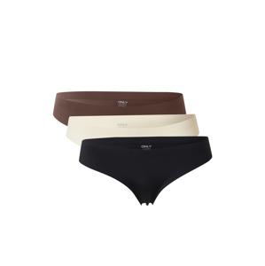 ONLY Kalhotky 'TRACY'  černá / krémová / hnědá