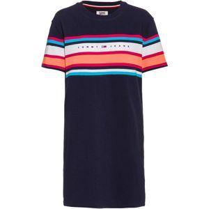 Tommy Jeans Šaty  světlemodrá / námořnická modř / bílá / korálová