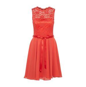 SWING Koktejlové šaty  světle červená