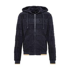 SikSilk Mikina s kapucí  černá