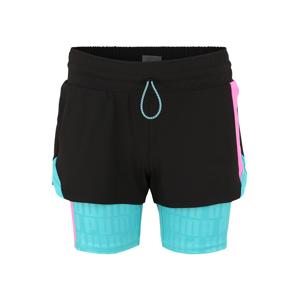 PUMA Sportovní kalhoty 'Train First Mile Xtreme 2n1'  aqua modrá / černá / pink