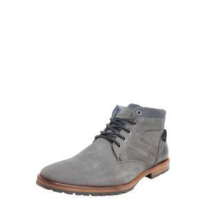 BULLBOXER Šněrovací boty  tmavě šedá