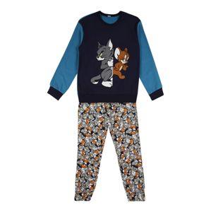 UNITED COLORS OF BENETTON Pyžamo  námořnická modř / šedá / hnědá