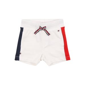 TOMMY HILFIGER Kalhoty  bílá / námořnická modř / ohnivá červená