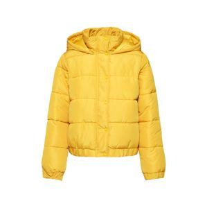 Missguided Zimní bunda 'HOODED PUFFER JACKET'  žlutá