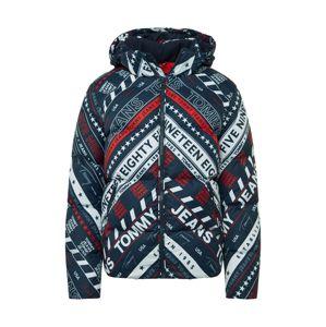 Tommy Jeans Zimní bunda  námořnická modř / bílá / červená