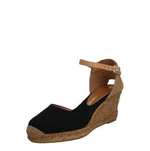 MACARENA Sandály  béžová / černá