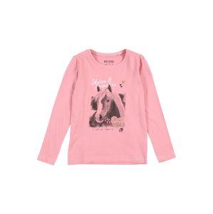 BLUE SEVEN Tričko  pink / šedá / antracitová / bílá