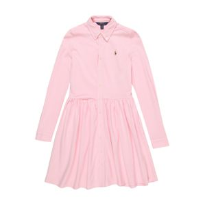 POLO RALPH LAUREN Šaty 'OXFORD DRESS-DRESSES-KNIT'  růžová