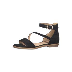 s.Oliver Páskové sandály  černá
