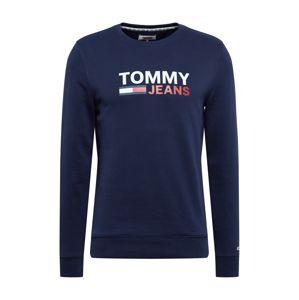 Tommy Jeans Mikina  námořnická modř / bílá / červená