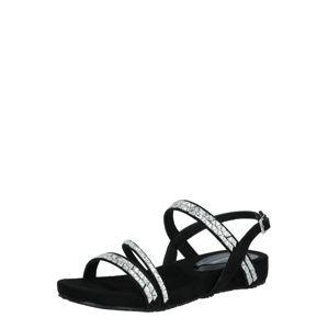 MARIAMARE Sandály 'BALI'  stříbrná / černá