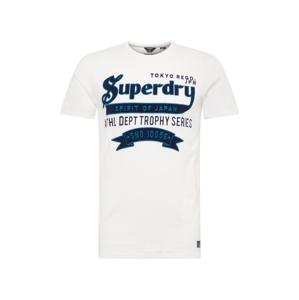 Superdry Tričko  tmavě modrá / bílá / modrá