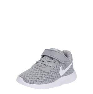 NIKE Sportovní boty 'Tanjun Toddler'  šedá / bílá