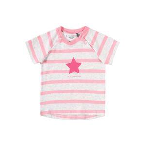BELLYBUTTON Tričko  pink / šedý melír